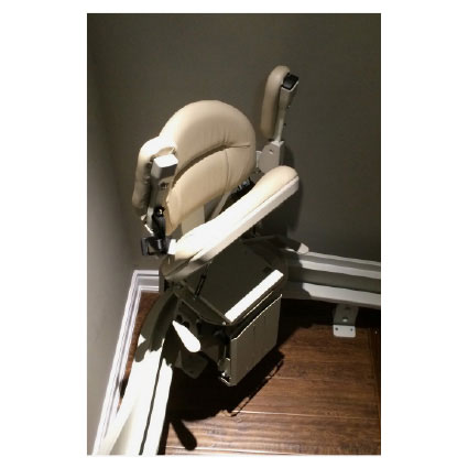Indoor Curved Stairlift Installation Toronto Hme Ltd
